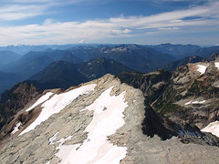 Looking Back to South Ridge from Kyes (Rainier in Distance)
