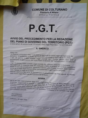 Avviso PTG - Colturano