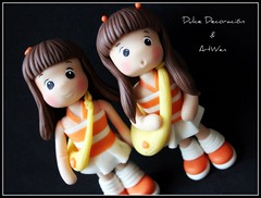 Dulce decoracin & ArtWen en accin! (ArtWen) Tags: nena picnik mueca coldporcelain porcelanafra