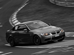 M3  *Explored* (Peter Hokke) Tags: white black color canon germany eos peter bmw m3 panning scuderia v8 selective nrburgring hokke hanseat e92 450d enige