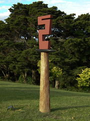 2007-12-23-Stoneleigh-2007-17-02-Signal (russellstreet) Tags: newzealand sculpture auckland signal nzl manukau aucklandbotanicalgardens charlottefisher sculpturesinthegarden2007 stoneleighsculpturesinthegarden2007