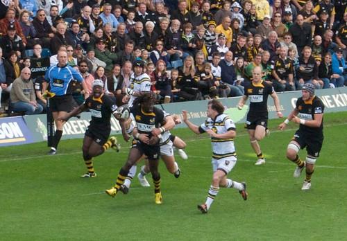 London Wasps v Northampton Saints - Tackle (Paul Sackey)