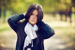 Zhenya (Geshpanets) Tags: autumn portrait girl beauty hair dof bokeh 5d 135mm 13520