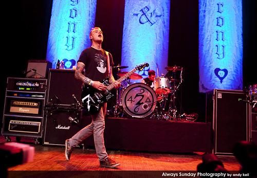 Matt Skiba of Alkaline Trio with drummer Derek Grant at Riot Fest