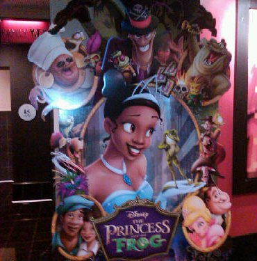 The Princess and the Frog Movie Theater Standee