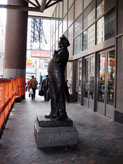 Jackie Gleason as Ralph Kramden Statue 1078 (Brechtbug) Tags: new york city bus statue bronze port lunch is jackie uniform authority tie front terminal an midtown his while jolly gleason ralph stands drivers straightening pail clutching clad manhattans honeymooners eightfoottall kramdon