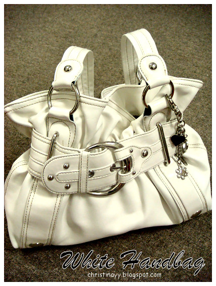 Shopping Items: White Handbag