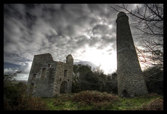 Cusvey-Consolidated (Light Painted Cornwall) Tags: chimney sky house history abandoned sign st tristan clouds danger warning tin person mine cornwall day engine stack mines figure copper consolidated granite historical stick disused lead derelict hdr tine peril cornish pumping redruth barratt photomatix cornishtinmine cornishenginehouse cusveyconsolidated cornishtinemine