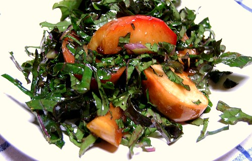 Sauteed apple and kale salad