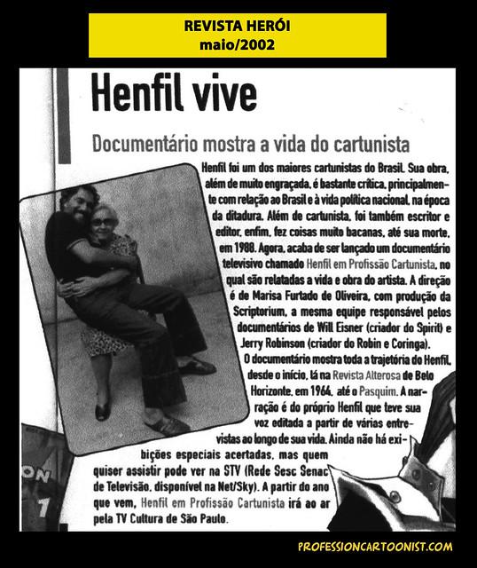 """""""Henfil vive"""" - Revista Herói - maio/2002"""