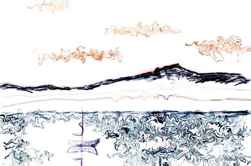mountain sketch 1/8/09
