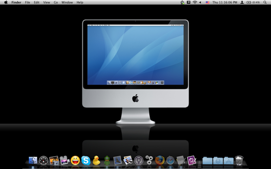 iMac on Glass