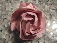 origami rose - top