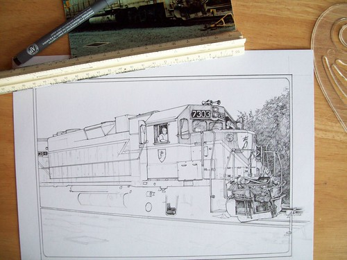D&H engine drawing in progress