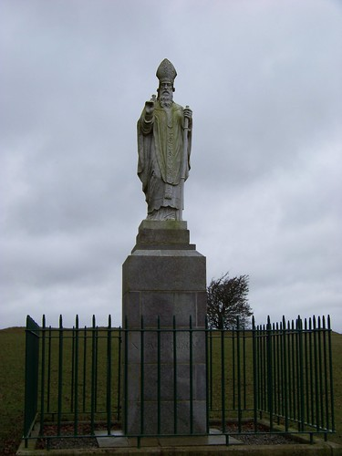 St. Patrick statue on the Hill of Tara