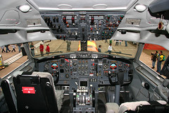 Boeing 727 Cockpit (Flightline Aviation Media) Tags: airplane photo canon20d aircraft aviation stock cockpit boeing 727 n204fe bruceleibowitz