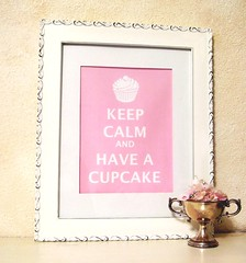 """KEEP CALM AND HAVE A CUPCAKE"" (holiday_jenny) Tags: uk pink blue original red england cute art kitchen vintage painting print poster cupcakes baking sweet originalart calm 8x10 have cupcake bakery keep carry greem ww11 shabychic readytoframe everydayisaholiday jennyheid jennysbakeshop aaronnieradka"