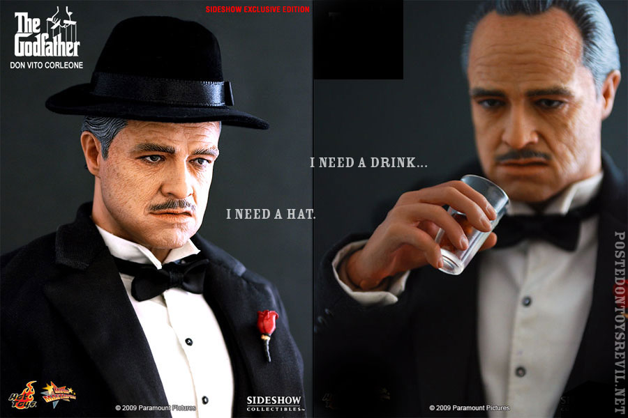 Sideshow Toys has revealed their Sideshow Exclusive-item for Hot Toy s 1 6  Don Vito Corleone figure available nowhere else  a Black Hat. bf768917e08