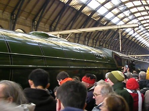 From the Tornado, panning across to the lookers on the main platform