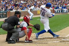 Big Swing (terren in Virginia) Tags: summer chicago sports baseball cubs wrigley 2008 mlb aramisramirez flickrdiamond