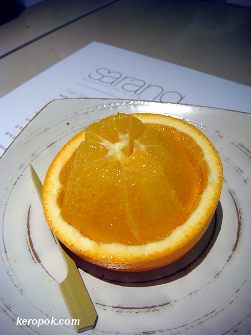 Dessert: Orange so nicely cut up