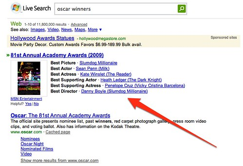 oscar winners - Live Search