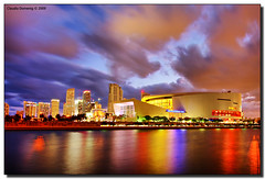 American Airlines Arena (Fraggle Red) Tags: fab clouds reflections evening downtown florida miami dusk hdr aaa bongos bicentennialpark canonefs1022mmf3545usm americanairlinesarena 3exp anawesomeshot citrit miamidadeco dphdr