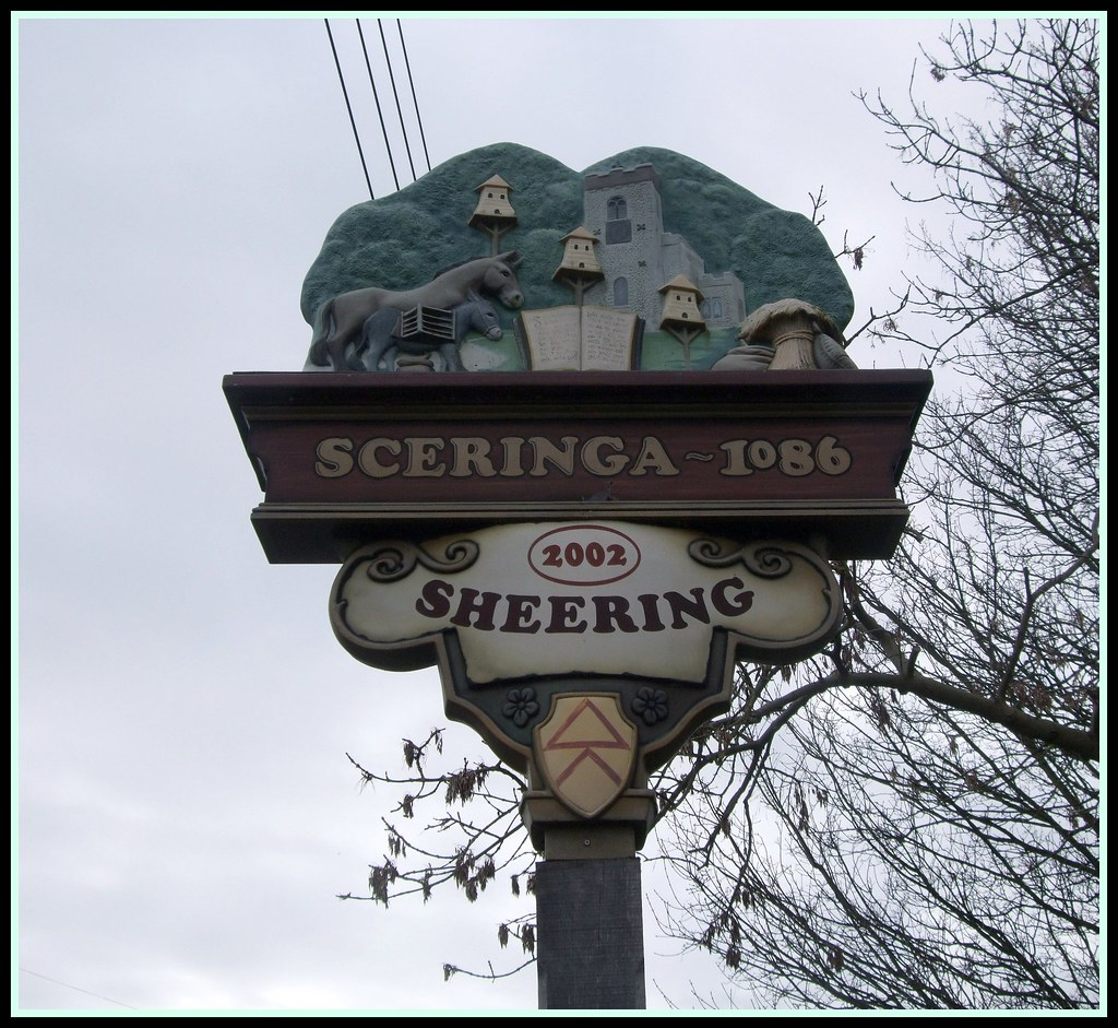 Sheering Village Sign