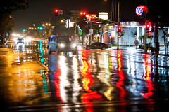 Rain Across My Heart (Thomas Hawk) Tags: california usa losangeles unitedstates fav50 10 unitedstatesofamerica fav20 southerncalifornia fav30 element venturablvd union76 hondaelement fav10 venturaboulevard fav25 fav40 fav60 superfave
