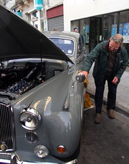 Street work...... (daviddb) Tags: glory cleaning jaguar dork routines britsabroad fastidious jcar mk9