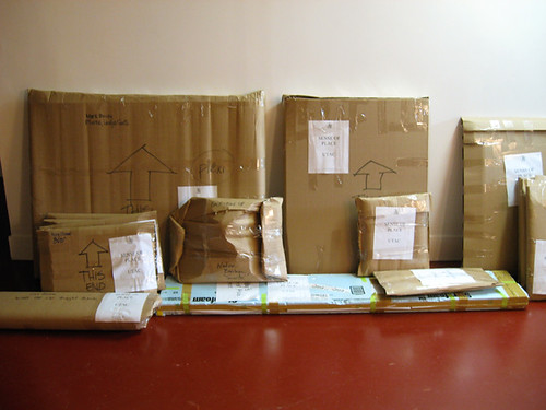 Sense of Place exhibition, ready for shipping
