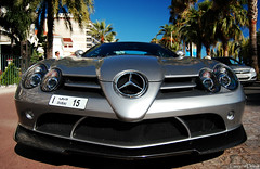 Slr Mclaren 722 (Laurens Driest) Tags: blue trees summer sky france slr film beach festival contrast nose grey mercedes hotel nikon dubai boulevard cannes d united parking uae palm fisheye emirates arab mclaren cote 1855 carbon 2009 supercar azur spoiler valet combo 18mm arabs splitter 722 d40 hypercar ubercombo