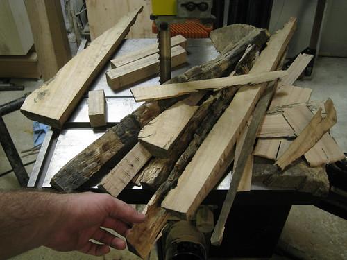 Eucalyptus resawing scraps