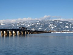 The Longest Railroad Bridge (Designer Michael) Tags: trestle bridge lake mountains water lakependoreille funinthesun sandpointidaho
