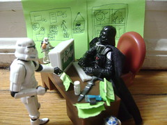 Meeting a Client (Divine Disciple) Tags: storm trooper computer star office sand wars vader figures