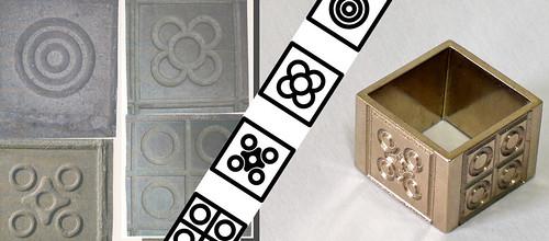 Grabado en anillo de oro Baldosas de Barcelona
