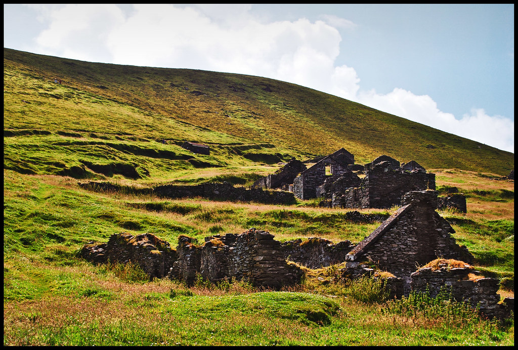 Deserted village on the great Blasket