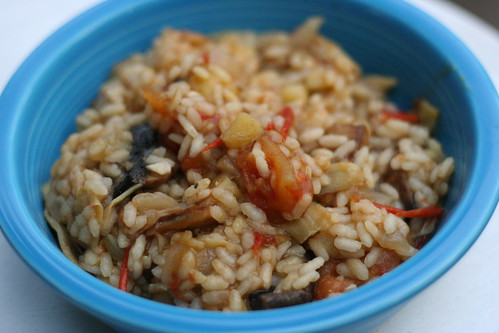 Daring Cooks: Rice with Mushrooms and Artichokes