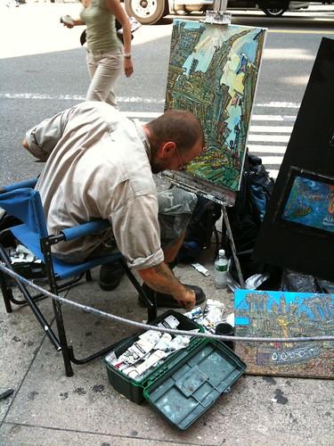 Street artist near Grand Central Station