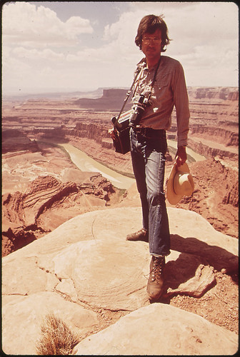 Documerica Photographer, David Hiser, at Dead Horse Point, 05/1972 by The U.S. National Archives