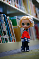 At the Library - 39/365 A Doll A Day