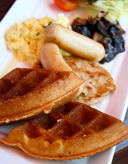 Them waffles - CRISPY!