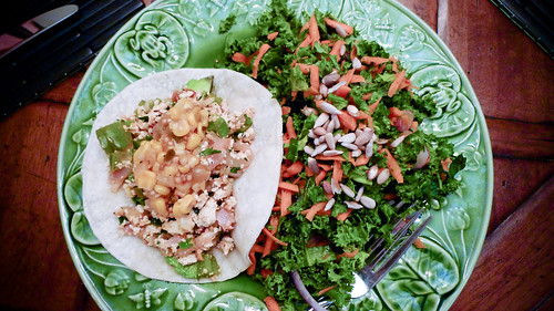 Dinner: Vegan Breakfast Taco with a Kale Salad