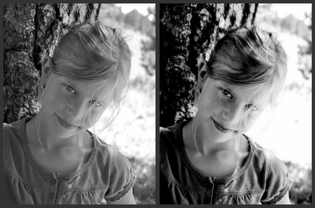Emma bw collage