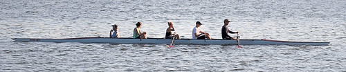 Creve Coeur Lake, in Maryland Heights, Missouri, USA - rowers 2