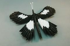 Borboleta em origami 3D