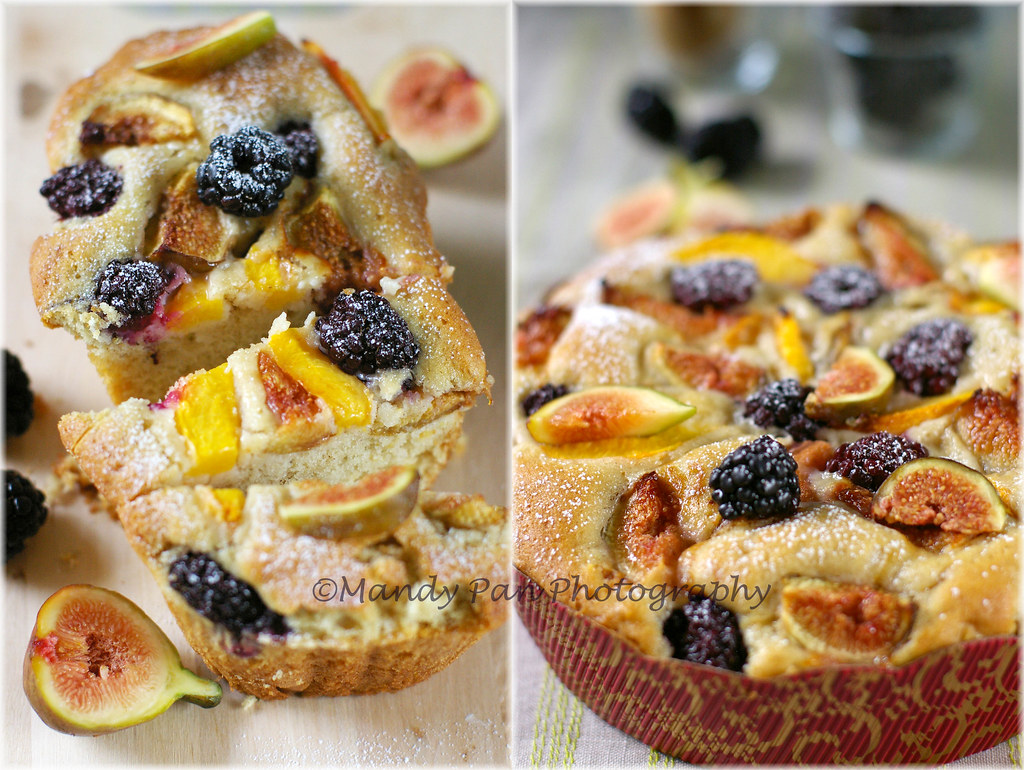 fig & blackberries cake