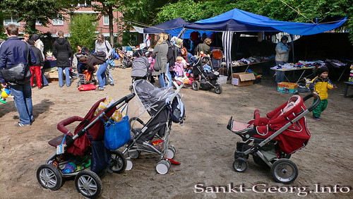 Kinderflohmarkt in Hamburg St. Georg (5.9.2009)