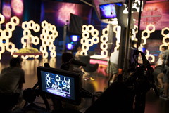 view on camera (Liz Lieu) Tags: liz lieu moviefilming lizlieu pokerdiva propokerplayer chinesecelebrities pokercompetition hongkongstudio pokerkingmovie finaltablescene