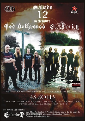 God Dethroned y Elexorien en Lima